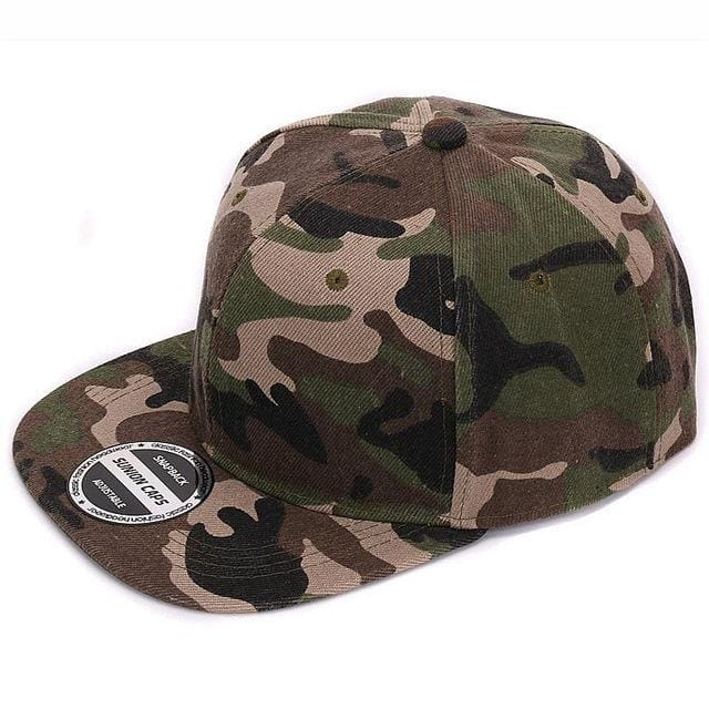 HATLANDER Camouflage snapback polyester cap blank flat camo baseball cap with no embroidery mens cap Full camo