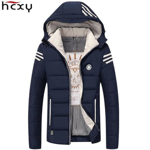 HCXY Men Winter Jacket 2017 Brand Casual Mens Jackets And Coats Thick Warm Jacket Men Parka