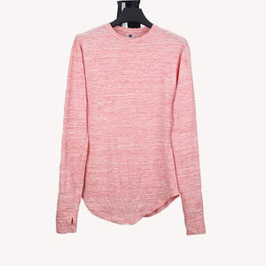 Heyguys 2017 Extend Hip Hop Street T-Shirt Wholesale Fashion Brand T Shirts Men Summer Long Sleeve Pink / S