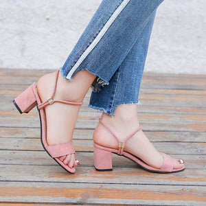 High Heels Shoes Women Fashion Shoes Sandals Pumps Summer Sexy Black Heels Ladies Shoes Casual Women Pink / 4.5