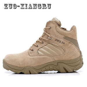 High-Quality Autumn Winter Military Tactical Boots Round Toe Men Desert Combat Boots Outdoor Mens