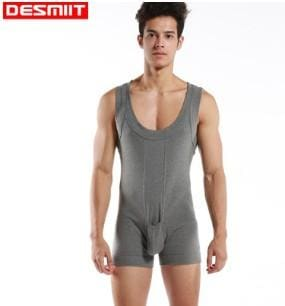 High quality Brand DESMIIT Male sexy Underwear Shapers Mens Bodysuits man Breathable cotton Body