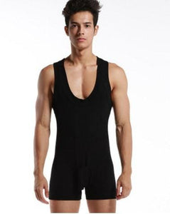 High quality Brand DESMIIT Male sexy Underwear Shapers Mens Bodysuits man Breathable cotton Body Black / XL
