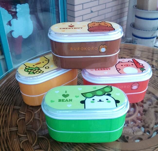 High Quality Cartoon Healthy Plastic Bento Box 600ml Lunch Bento Boxes Food Container Dinnerware - MBMCITY