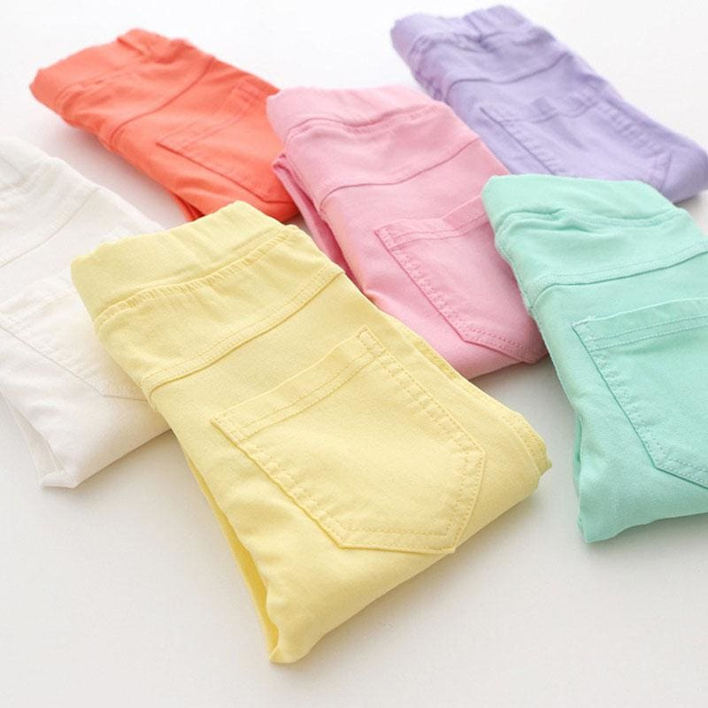 High Quality Spring Summer Fashion Children Pants Candy Color Pencil Girls Pants - MBMCITY