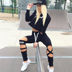High Quality Women Tracksuits Sport Suits Women Gym Fitness Jogging Suit Clothing 2 Piece Set Yoga