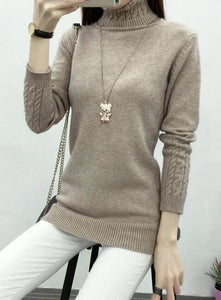 Hot Spring Autumn Women Sweaters and Pullovers Fashion turtleneck Sweater Women twisted - MBMCITY