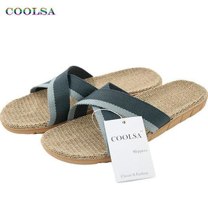 Hot New Summer Men Flax Flip Flop Canvas Linen Non-Slip Designer Flat Sandals Home Slippers Man