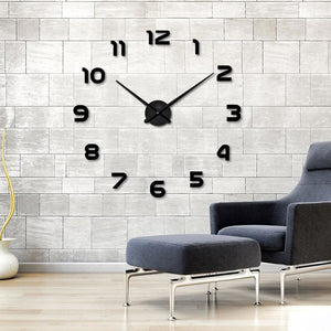 Hot Sale 3D DIY Wall Clock Modern Design Saat Reloj De Pared Metal Art Clock Living Room Acrylic - MBMCITY