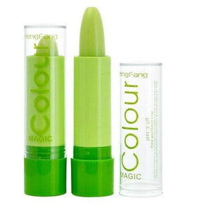 Hot Sale Lip Balm Magic Change Color Lipstick Green Paste Change Color Turn Into Pink Free Shipping