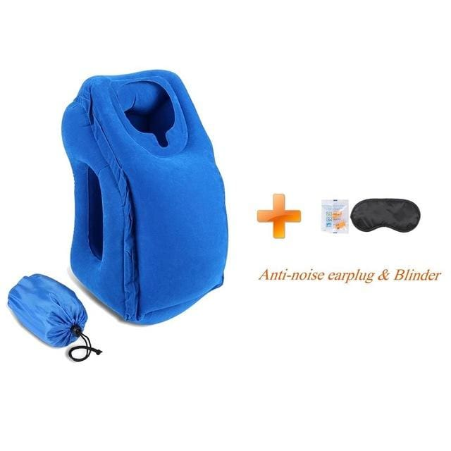 Hot-Sale Newest Designed Travel Pillow Neck Pillow For Airplanes Car Sleeping/train/office Nap -- Blue01