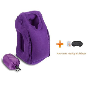 Hot-Sale Newest Designed Travel Pillow Neck Pillow For Airplanes Car Sleeping/train/office Nap -- Purple01