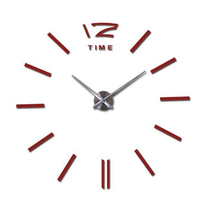 hot sale wall clock large decorative wall clocks home decor diy clocks living room reloj mural Red / 47inch