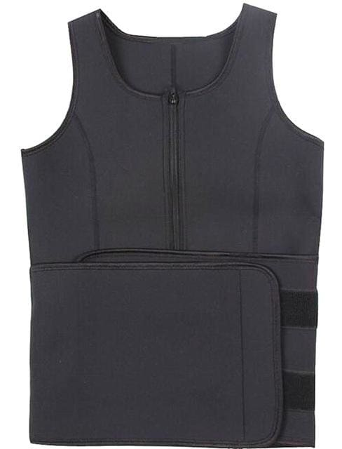 Hot Shapers Neoprene Sauna Waist Trainer Vest Workout Shaperwear Slimming Adjustable Sweat Belt wasit trainer vest / S
