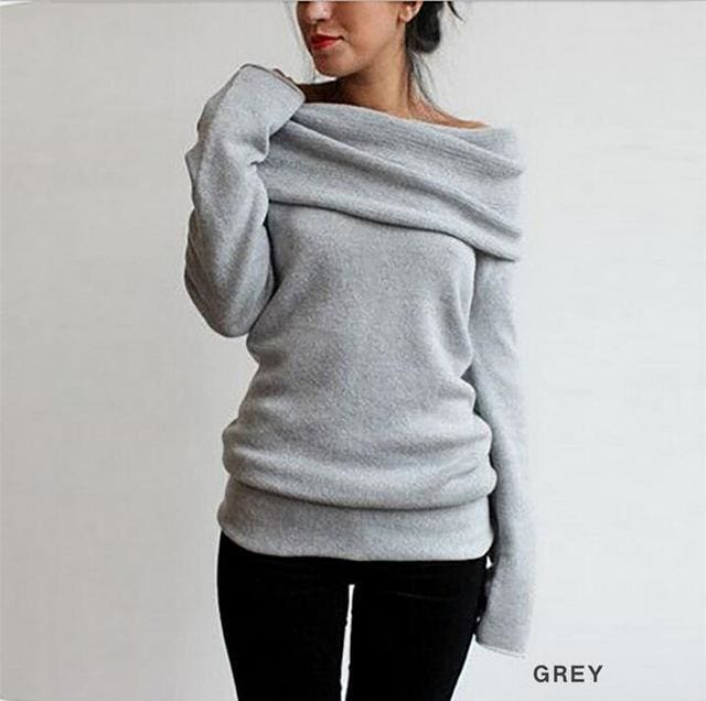 Hot Sweaters Knitted Pullover Sweater Women Sweater Jumper Women Sweaters Pull Femme Winter Long B / M