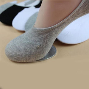 Hot Unisex Low Cut Ankle Socks Casual Soft Cotton Sock Loafer Boat Non-Slip Invisible No Show Socks Grey / One Size