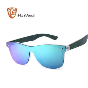 HU WOOD Brand Vintage Style Sunglasses Men Flat Lens Rimless Square Frame Women Sun Glasses Fashion