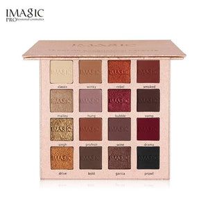 IMAGIC  Brand 16 Colors Eyeshadow Palette Matte Shimmer Glitter  Eye Shadow Palette Blush Makeup - MBMCITY
