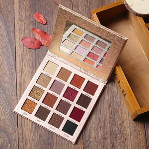 Imagic Brand 16 Colors Eyeshadow Palette Matte Shimmer Glitter Eye Shadow Palette Blush Makeup