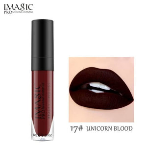 Imagic Makeup Liquid Lipstick Hot Sexy Colors Lip Paint Matte Lipstick Waterproof Strawberry Long 10