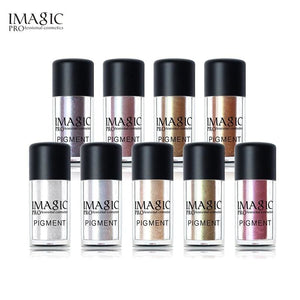 IMAGIC New Arrival Glitter Eyeshadow Metallic Loose Powder Waterproof Shimmer Pigments Colors Eye.