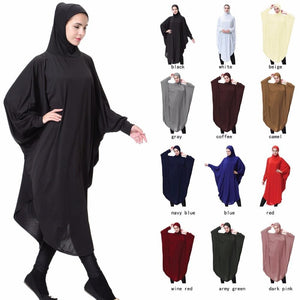 Islamic Khimar Clothes Muslim Black Face Cover Niqab Burqa Bonnet Long Hijab Loop Scarf Women