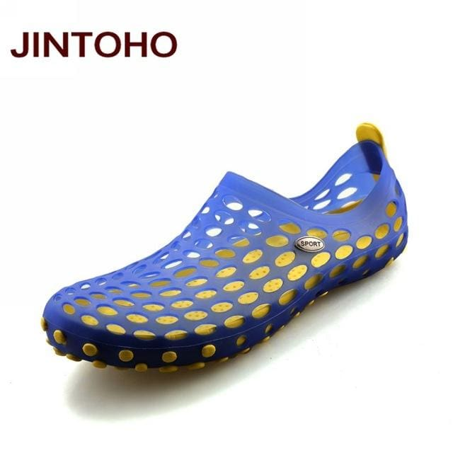 JINTOHO New 2017 Famous Brand Casual Men Sandals Fashion Plastic Sandals Summer Beach Shoes Water - MBMCITY