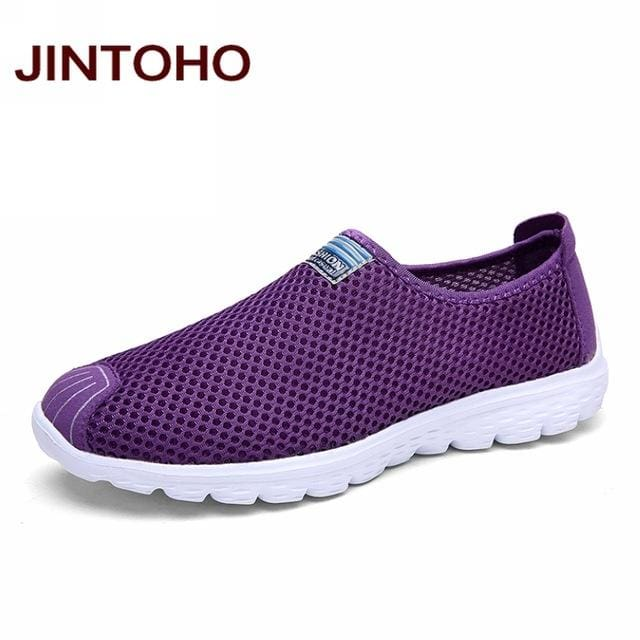 JINTOHO Unisex Summer Breathable Mesh Men Shoes Lightweight Men Flats Fashion Casual Male Shoes - MBMCITY