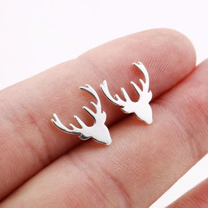 Jisensp New Arrival Fashion Deer Stud Earrings for Women Party Christmas Gift Animal Earrings boucle
