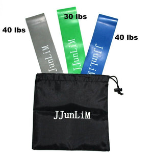 Jjunlim Resistance Loop Bands Set Fitness Equipment Stretch Yoga Leg Training Band Crossfit Elastic