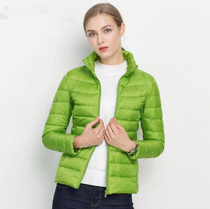 Johnature 90% White Duck Down Jacket Autumn Winter 17 Colors New Warm Slim Zipper 2017 Women Fashion - MBMCITY