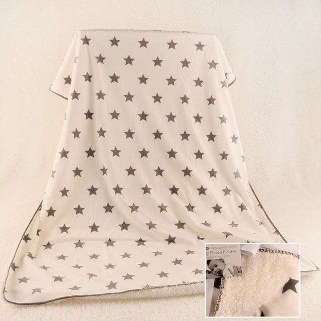 JUST CUTE 2016 new thicken double layer fleece infant swaddle bebe envelope stroller wrap for