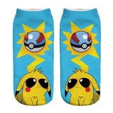 Kawaii Harajuku Pokemon Pikachu Socks 3D Printed Cartoon 6