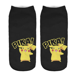 Kawaii Harajuku Pokemon Pikachu Socks 3D Printed Cartoon 2