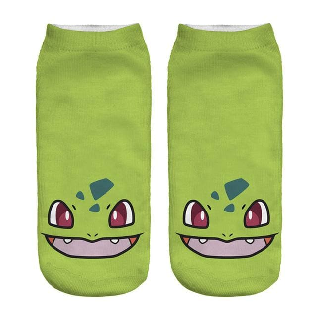 Kawaii Harajuku Pokemon Pikachu Socks 3D Printed Cartoon 18