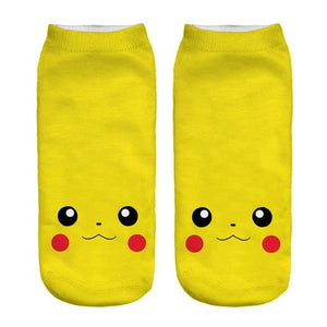 Kawaii Harajuku Pokemon Pikachu Socks 3D Printed Cartoon 15