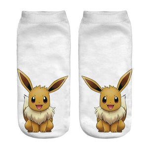 Kawaii Harajuku Pokemon Pikachu Socks 3D Printed Cartoon 13