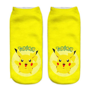 Kawaii Harajuku Pokemon Pikachu Socks 3D Printed Cartoon 21