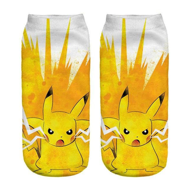 Kawaii Harajuku Pokemon Pikachu Socks 3D Printed Cartoon 7
