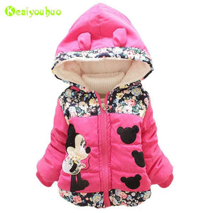 Keaiyouhuo Baby Girls Jackets Coats 2017 Autumn Winter Jacket For Girls Coat Kids Warm Outerwear