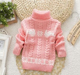 Kids Sweaters 2017 New Children's Sweater Boys and Girls Long Sleeved Tops for Children Turtleneck - MBMCITY