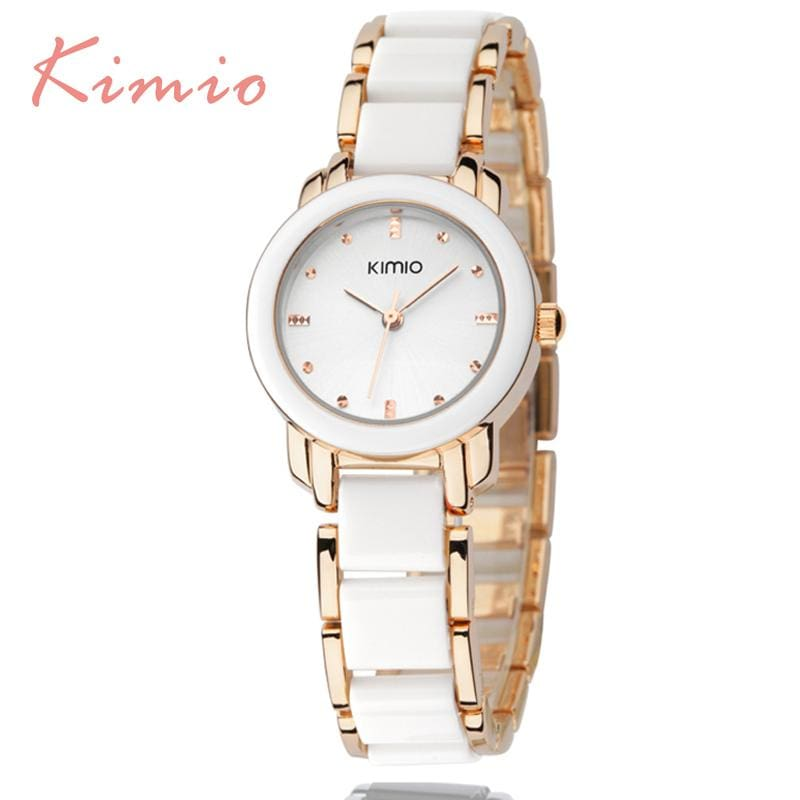 Kimio Luxury Fashion Womens Watches Quartz Watch Bracelet Wristwatches Stainless Steel Bracelet