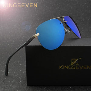 KINGSEVEN Aluminum Magnesium Polarized Sunglasses Men Driver Mirror Sun glasses Male Fishing Female