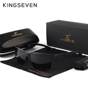 KINGSEVEN Men Polarized Sunglasses Aluminum Magnesium Sun Glasses Driving Glasses Rectangle Shades
