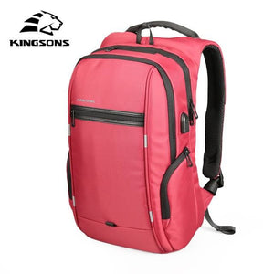 "Kingsons 15""17""  Laptop Backpack External USB Charge Computer Backpacks Anti-theft Waterproof Bags"