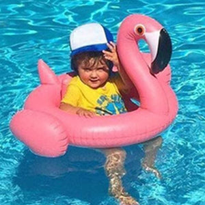 kinsmirat Inflatable Flamingo Pool Float Circle Mattress Swimming Swan Swim Ring Seat Boat Raft white