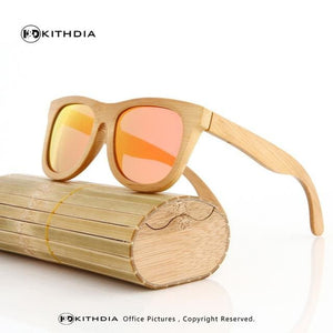 KITHDIA Wood Sunglasses Men Brand Designer Polarized Driving bamboo Sunglasses Wooden Glasses Frames