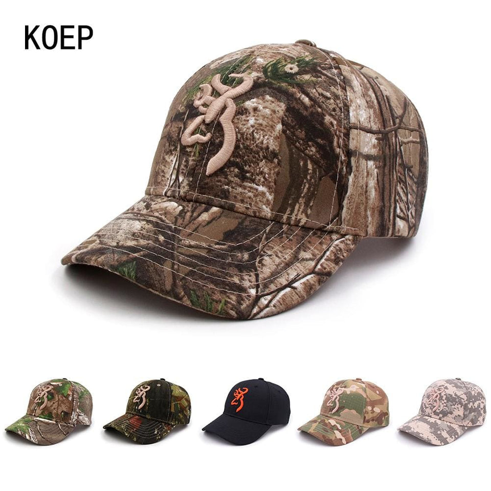 KOEP Browning Camo Baseball Cap Fishing Caps Men Outdoor Hunting Camouflage Jungle Hat Airsoft