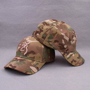 KOEP Browning Camo Baseball Cap Fishing Caps Men Outdoor Hunting Camouflage Jungle Hat Airsoft CAMBLN-KP3 / One Size Fits All