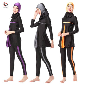 Ladies Full Cover Muslim Swimwears Islamic Womens Swimsuits Arab Islam Beach Wear Long Modest.